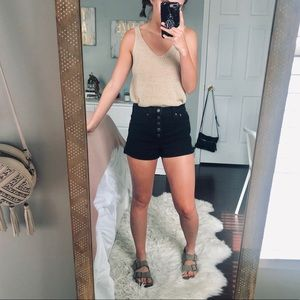 Madewell High Rise Button-Front Shorts